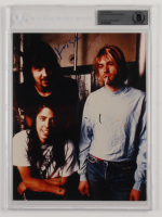 """Dave Grohl & Krist Novoselic Signed """"Nirvana"""" 8x10 Photo (BGS Encapsulated) (See Description) at PristineAuction.com"""