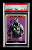 "Kamala Signed ""Wrestling Legends"" Trading Card (PSA Encapsulated) at PristineAuction.com"