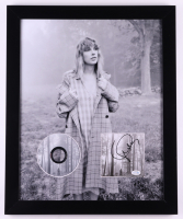 """Taylor Swift Signed """"Folklore"""" 18x22 Custom Framed CD Booklet Display (ACOA COA) at PristineAuction.com"""