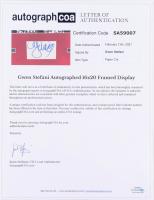 Gwen Stefani Signed 18x22 Custom Framed Cut Display (ACOA LOA) at PristineAuction.com