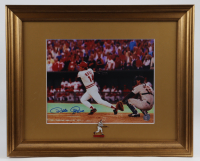 Pete Rose Signed Reds 13x16 Custom Framed Photo Display With Pete Rose Pin (Rose Hologram) at PristineAuction.com