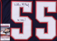 """Willie McGinest Signed Jersey Inscribed """"3x SBC!"""" (JSA COA) at PristineAuction.com"""