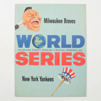 1958 Official Braves vs Yankees World Series Program at PristineAuction.com