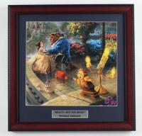"Thomas Kinkade ""Beauty & The Beast"" 16x16 Custom Framed Print Display at PristineAuction.com"