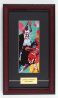 "LeRoy Neiman ""Michael Jordan"" 10x17 Custom Framed Print Display at PristineAuction.com"