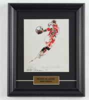 "Leroy Neiman ""Michael 'Air' Jordan"" 10x12 Custom Framed Print Display (See Description) at PristineAuction.com"