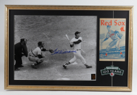 Ted Williams Signed Red Sox 20x30 Custom Framed Photo Display with Original 1960 Fenway Park Last Year Program (Williams Hologram) at PristineAuction.com