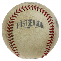 """Mike Trout Signed 2014 Game-Used Postseason Baseball Inscribed """"1st Career Playoff Series"""" (MLB Hologram) at PristineAuction.com"""