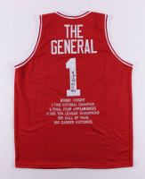 Bobby Knight Signed Career Highlight Stat Jersey (JSA COA) (See Description) at PristineAuction.com