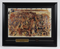 """Leroy Neiman """"The United States Stock Market"""" 16x20 Custom Framed Print Display at PristineAuction.com"""