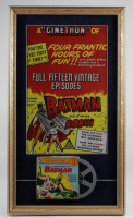 """""""Batman & Robin"""" 15x26 Custom Framed Poster Display with 1960's 8mm Film at PristineAuction.com"""