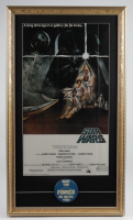 """""""Star Wars Episode IV: A New Hope"""" 15x26 Custom Framed Movie Poster Display With May The Force Be With You Pin at PristineAuction.com"""
