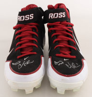 """Cody Ross Signed Game-Used Pair of Nike Baseball Cleats Inscribed """"Game Used"""" (Beckett Hologram) at PristineAuction.com"""