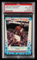 Michael Jordan 1989-90 Fleer Stickers #3 (PSA 8) (OC) at PristineAuction.com