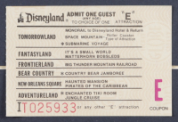 "Disneyland ""Haunted Mansion"" 15x26 Custom Framed Print Display with Vintage Ticket Booklet, Vintage Souvenir Postcard & Haunted Mansion Resin Souvenir Emblem at PristineAuction.com"