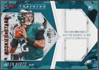 Jalen Hurts 2020 Rookies and Stars Cross Training Jerseys #14 RC #20/199 at PristineAuction.com
