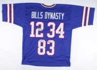 """Jim Kelly, Thurman Thomas & Andre Reed Signed Jersey Inscribed """"Bills Dynasty"""" (JSA COA) at PristineAuction.com"""