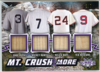 Babe Ruth / Mickey Mantle / Willie Mays / Ted Williams 2021 Leaf Lumber Mt. Crushmore Purple #MC02 #3/7 at PristineAuction.com