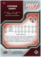 Stephen Curry 2009-10 Upper Deck Draft Edition #34 SP at PristineAuction.com