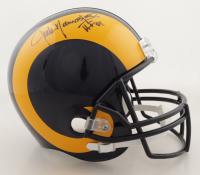 "Jack Youngblood Signed Rams Full-Size Helmet Inscribed ""HOF 01"" (Schwartz COA) (See Description) at PristineAuction.com"