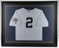 Derek Jeter Signed 34.5x42.5 Custom Framed Jersey Display (JSA ALOA) at PristineAuction.com