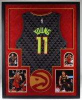 Trae Young Signed 34x42 Custom Framed Jersey Display (JSA COA) at PristineAuction.com