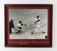 """Ted Williams Signed """"Ted Williams Last Home Run"""" Red Sox 21x23 Custom Framed Photo Display With 1950's Red Sox Pin (Williams COA) at PristineAuction.com"""