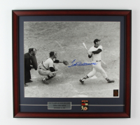 """Ted Williams Signed """"Ted Williams Last Home Run"""" Red Sox 21x23 Custom Framed Photo Display With Ted Williams Lifetime Achievement Pin (Williams COA) at PristineAuction.com"""