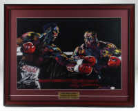 Mike Tyson Signed 22x28 Custom Framed Original Vintage LeRoy Neiman Fight Lithograph Display (PSA COA) at PristineAuction.com