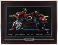 Mike Tyson Signed 22x28 Custom Framed Original 1996 LeRoy Neiman MGM Grand Art Lithograph Display (PSA COA) at PristineAuction.com