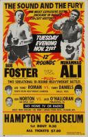 Muhammad Ali & Bob Foster 14x22 Original 1971 Heavyweight Fight Poster (See Description) at PristineAuction.com