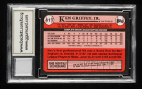 Ken Griffey Jr. 1989 Topps Traded #41T RC with Game-Used Jersey Piece (BCCG 10) at PristineAuction.com