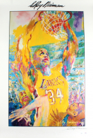 """LeRoy Neiman Signed """"Shaquille O'Neal"""" 27x39 Poster Print (JSA COA) at PristineAuction.com"""
