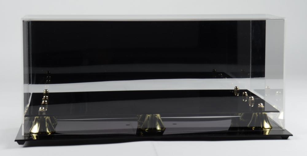 BCW Acrylic Triple Mini Helmet Mirrored Display Case at PristineAuction.com