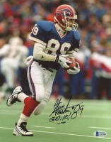 "Steve Tasker Signed Bills 8x10 Photo Inscribed ""Go Bills!"" (Beckett COA) at PristineAuction.com"