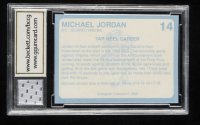 Michael Jordan 1989-90 North Carolina Collegiate Collection #14 with Game-Used Jersey (BCCG 10) at PristineAuction.com