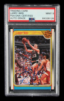 Larry Bird Signed 1988-89 Fleer #124 AS (PSA Encapsulated) at PristineAuction.com