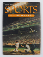 Sports Illustrated Magazine Original First Issue from August 16, 1954 with Uncut Sheet of 1954 Topps Baseball Cards (See Description) at PristineAuction.com