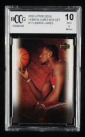 2003 Upper Deck LeBron James Box Set #17 / On the Air (BCCG 10) at PristineAuction.com