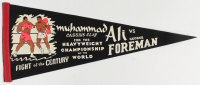 """Muhammad Ali Vs. George Foreman """"Fight Of The Century"""" Vintage Pennant at PristineAuction.com"""