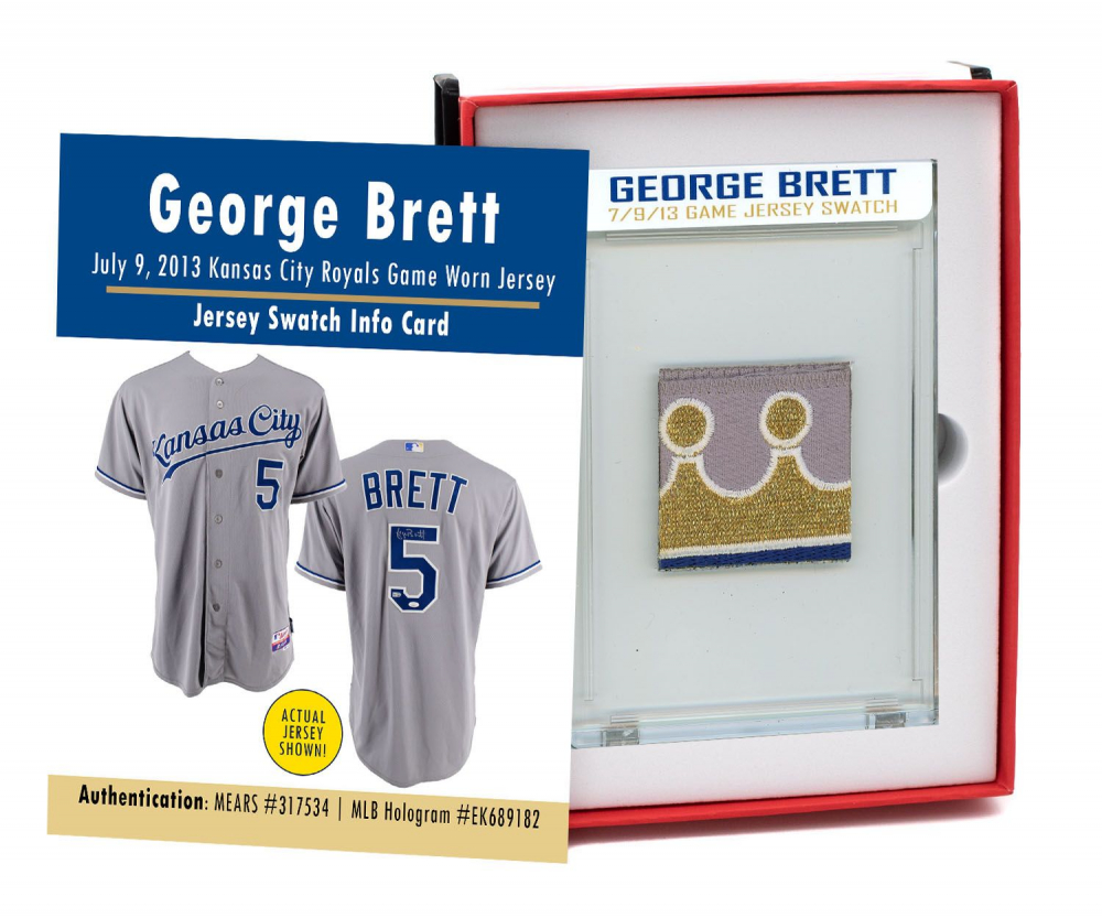 GEORGE BRETT 7/9/13 KANSAS CITY ROYALS GAME-WORN JERSEY MYSTERY SEALED SWATCH BOX! at PristineAuction.com