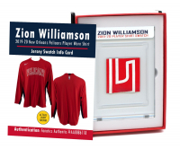 ZION WILLIAMSON 2019-20 PELICANS PLAYER-WORN SHIRT MYSTERY SWATCH BOX! at PristineAuction.com