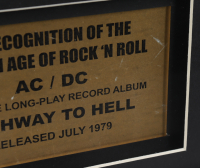 """AC/DC Custom Framed 15.75x19.75 Gold Plated """"Highway to Hell"""" Record Album Award Display (See Description) at PristineAuction.com"""