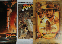 """Set of (3) """"Indiana Jones"""" 27x40 Movie Posters (See description) at PristineAuction.com"""