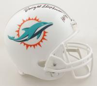 "Dwight Stephenson Signed Dolphins Full-Size Helmet Inscribed ""HOF 98"" (Schwartz COA) (See Description) at PristineAuction.com"