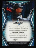 Ronald Acuna 2020 Leaf Flash #BARA1 at PristineAuction.com