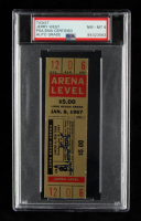 Jerry West Signed 1967 Los Angeles Lakers vs. New York Knicks Game Ticket (PSA Encapsulated) at PristineAuction.com