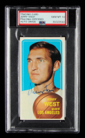 Jerry West Signed 1970-71 Topps #160 (PSA Encapsulated) at PristineAuction.com
