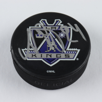 Alexander Frolov Signed Kings Logo Hockey Puck (JSA COA) at PristineAuction.com