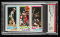 Larry Bird / Julius Erving / Magic Johnson 1980-81 Topps #6 34 / 174 Team Leader / 139 RC  (PSA 7) (PD) at PristineAuction.com